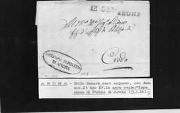 CG8 - Lettera Della Polizia Gen. Di Arona Per Crodo 13/1/1826 - Annullo Di Arona - ...-1850 Préphilatélie