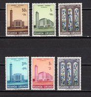 RUANDA-URUNDI   N° 225 à 230    NEUFS SANS CHARNIERE   COTE 1.50€   EGLISE  CATHEDRALE - 1948-61: Neufs