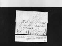 CG8 - Lettera Da Oleggio Castello Per Novara 13/6/1820  - Annullo Di Arona - ...-1850 Préphilatélie