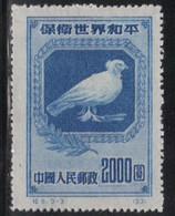Chine 1950 Yvert 863 (*) Neuf Sans Gomme (2) (AF32) - Unused Stamps