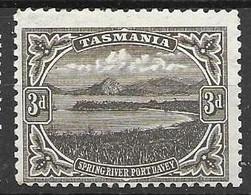 Tasmania LAYING WATERMARK CROWN 1906 Perf 11 22 Euros - Nuevos