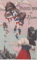 PAQUES 1915 EN ALSACE - Patriottisch