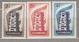 EUROPA 1956 Luxembourg Mi 555 - 557 Very Light Hinged (*) #18904 - Nuevos