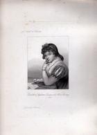 GRAVURE- VERS 1876- ELISABETTE  D'ANGLETERRE DE HESSE HOMBOURG (1840)  DIM 22X31 CM - Andere