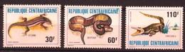 "Centrafrique Aerien YT 240 à 242 "" Reptiles "" 1981 Neuf** - Central African Republic"
