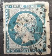 Empire No 14 A Obl Pc 595 De CAMPAGNAC, Aveyron,  Indice 18, Belle Frappe TB - 1853-1860 Napoléon III