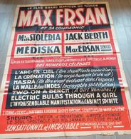 AFFICHE Originale Max ERSAN MAGICIEN Toulouse Prestidigitation Magie Imprimerie HARFORT Harford 120x160 - Non Classificati