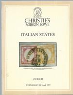 AUKTIONSKATALOG 1989 ****CHRISTIE'S****ITALIAN STATES - Auktionskataloge