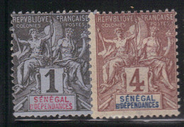 Sénégal 1892/93 Yvert 8 Et 10 Neufs* Trace Charnière (AF54) - Gebruikt