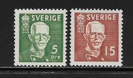 SUEDE ( EUSU - 379 )  1938  N° YVERT ET TELLIER  N° 254a/255a  N** - Nuovi