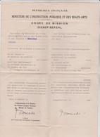 Ordre De Mission Dienst Befehl Fait à Cahors Pour Mr Robert Ferret (violoniste) Pour Déplacement. Signé Mais Non Rempli - Unclassified