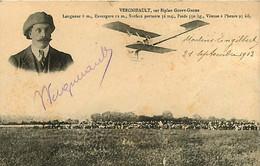 060221 - AVIATION AUTOGRAPHE - 58 MOULINS ENGILBERT - VERGNIEAULT Biplan Coupy Gnome Avion - Moulin Engilbert