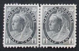 Canada 1898 Paire Yvert 62 - Neufs