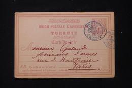TURQUIE - Entier Postal De Hania ( La Canée - Crète ) Pour Un Fabricant D'Armes à Paris En 1891 - L 87782 - Covers & Documents