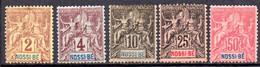Nossi-Bé: Yvert N° 28/29*; Les 31-34-37(*) - Unused Stamps