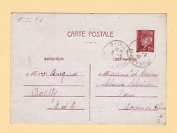 Type Petain - Entier Postal - Batilly - Meurthe Et Moselle - 1942 - 1921-1960: Période Moderne
