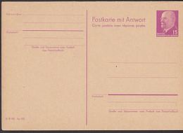 DDR P78 15 / 15 Pf. Walter Ulbricht Doppelkarte GA-Karte Ungebraucht - Postales - Nuevos