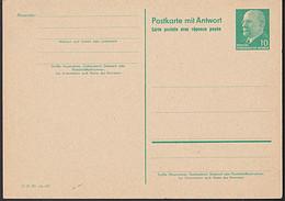Germany DDR P73 10 / 10 Pf. Walter Ulbricht Doppel- GA-Karte Ungebraucht - Postales - Nuevos