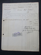 Oude Handgeschreven 1925  Soci .  Anon.  Des  Mines Fonderies  De Zinc De La VIEILLE  -- MONTAGE Balen- Wezel - Balen