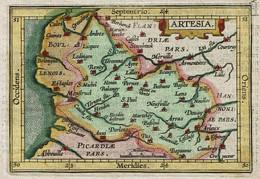 Petite Gravure - XIXe - Artesia Comitatus - Carte Artois - Voir Scans - Prints & Engravings
