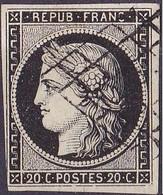 France Cérès N°3 Année 1849 Oblitéré TB - 1849-1850 Ceres