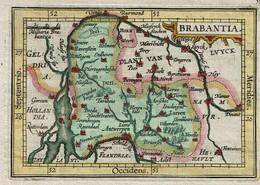 Petite Gravure - XIXe - Brabantiae Ducatus - Carte Duché De Brabant - Voir Scans - Prints & Engravings