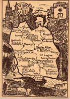 CPM Géographique - 48 LA LOZERE. Cathédrale De Mende, L'Aven Armand, Gorges Du Tarn, Dolmens - BE - Maps