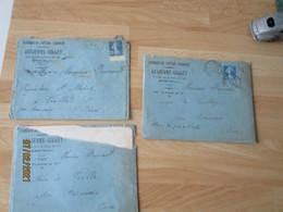 Lot De 4 , Breteuil Lelievre Gillet Fabrique Voiture Agricoles  Facture Et Enveloppe Commerciale - 1900 – 1949