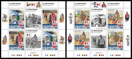 DJIBOUTI 2020 - Red Cross, COVID-19, 2 M/S. Official Issue [DJB200515a-2] - Enfermedades