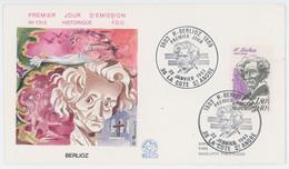 Enveloppe Premier Jour - Berlioz - La Cote Saint André - 1983 - 1980-1989