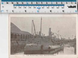 ORIGINAL WW1/WK1 - HMS SPEY - GUNBOAT - IN DOCK SHEERNESS DOCKYARD - Guerre 1914-18
