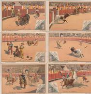 """Lot De 6 Chromos """"Liebig - Course De Taureaux"""" - Liebig"""