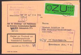 Berlin W8 (Mi. E2y Randstück) ZU Zustellungsurkunde Amt Erfindungswesen, Zentraler Kurierdienst Der DDR - Servizio