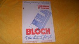 BUVARD ANCIEN BLOCH RENDENT FORT..CREME D'ORGE, AVOINE...BLOCH - B