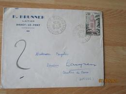 Dracy Le Fort  Facteur Boitier Obliteration Lettre - 1921-1960: Periodo Moderno