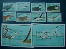 Maldives 1990 Birds Set +2 S/s  MNH - Otros