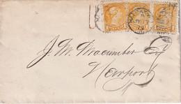 CANADA 1873 LETTRE DE HALIFAX - Briefe U. Dokumente