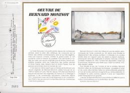 FRANCE 1997- FEUILLET CEF N°1312 -  OEUVRE DE BERNARD MONINOT - OBLITERATION 1er JOUR 23.03.1997 PARIS Tirage 2683 - Zonder Classificatie