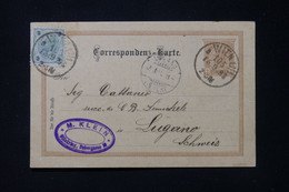 AUTRICHE - Entier Postal De Wien Pour La Suisse En 1893  - L 87861 - Postwaardestukken