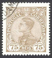 Portugal Sc# 163 Used 1910 75r King Manuel II - Used Stamps