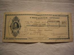 Chèque Illustré BPF 1916 Maison Chevallier-Appert Paris - Assegni & Assegni Di Viaggio