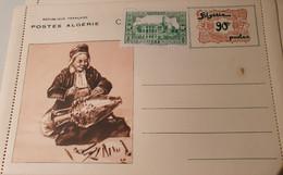 ALGERIE ENTIER POSTAL CARTE LETTRE LA DINANDERIE ALGERIENNE 90C + TIMBRE 10 C NEUF BON ETAT - Cartas