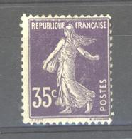 0ob  0533  -  France  :  Yv  142aa  *    Violet Très Foncé - 1906-38 Semeuse Camée