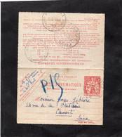 1938 - Pneumatique Type CHAPLAIN 2f - Cachet ORLY & Divers Cachets Au Dos - Rohrpost