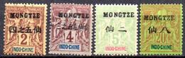 Mong-Tzeu: Yvert N° 2-3-4-7; 4 Valeurs - Neufs