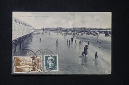 ITALIE - Affranchissement De Fano Sur Carte Postale En 1933 Pour La France - L 87868 - Marcophilia