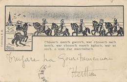 CPA Illustrateur J. Pohier - Breton C'houec'h Merc'h Gwerc'h War C'houec'h Sac'h Kerc'h... - Other Illustrators