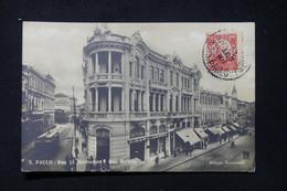 BRÉSIL - Affranchissement De Sao Paulo Sur Carte Postale En 1917 Pour La France - L 87877 - Cartas
