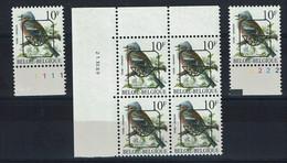 BELGIQUE - PRE 834 P6 Xx Bloc De 4 C.D.F. Avec Date 21.XII.89 + N° Planche 1 Et 2 - Sobreimpresos 1986-..(Aves)