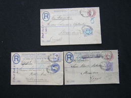 3 Covers To Egypt , All With Perfins - Briefe U. Dokumente